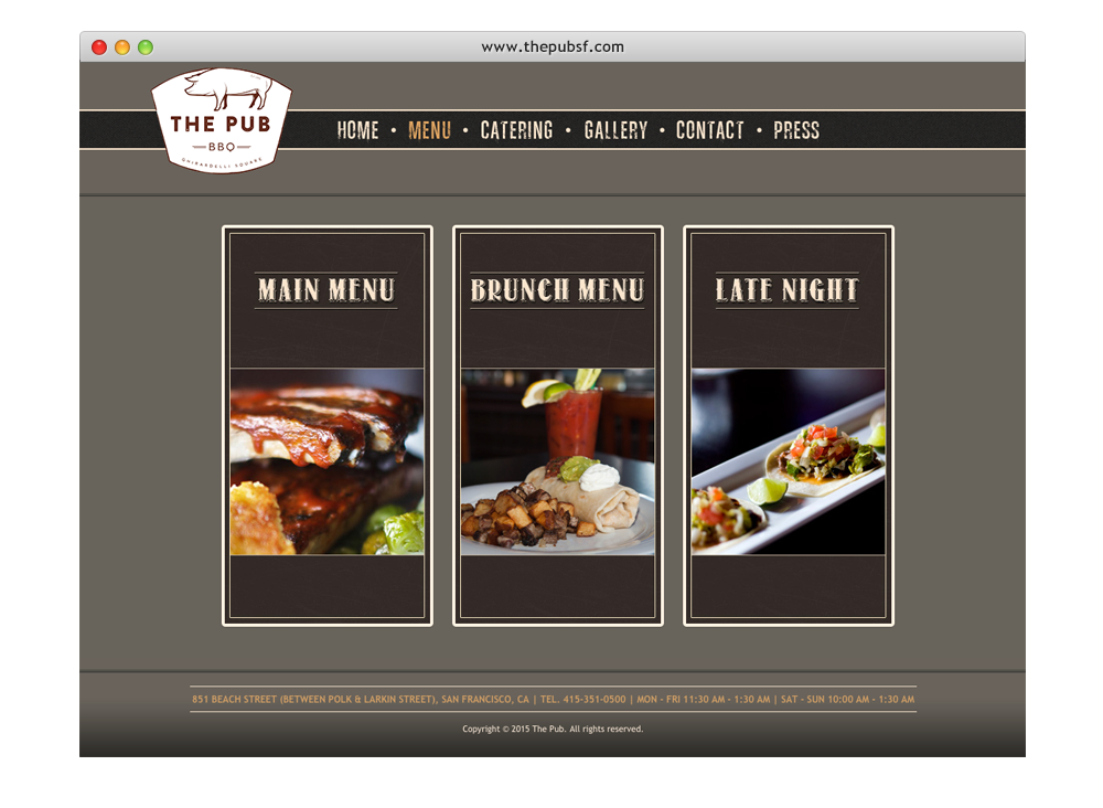 The Pub website